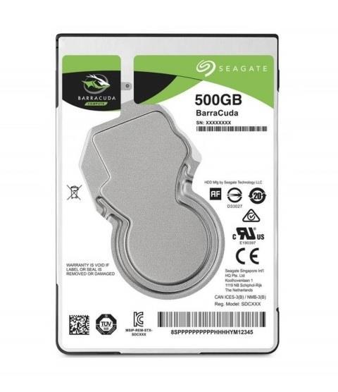 Seagate BarraCuda 2.5'' 500GB SATA3 7200RPM 128MB
