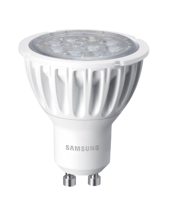 Samsung LED GU10 4,6W 230V 310lm 40st., Teplá bílá