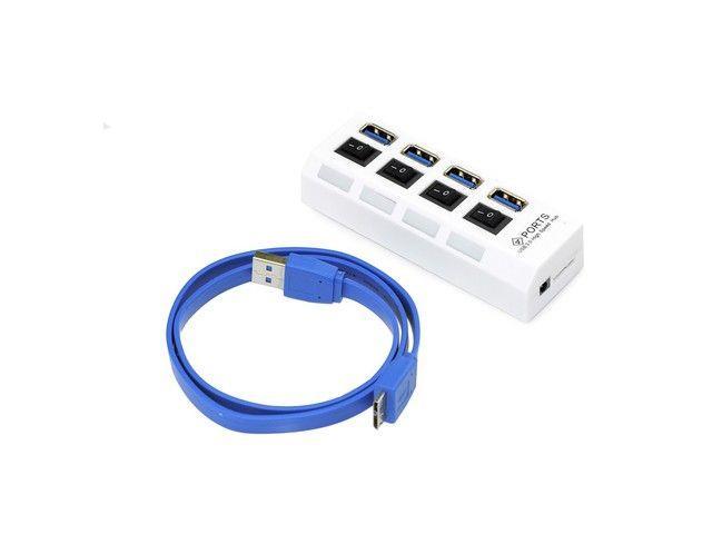 Gembird USB 3.0 HUB se switchem– 4 porty, černý