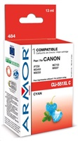 ARMOR cartridge pro CANON Pixma MG5450, IP7250 (CLi551XLC) Cyan 13ml