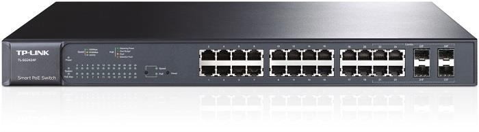TP-Link TL-SG2424P switch 24x 10/100/1000Mbs, 4x SFP combo, PoE, managed