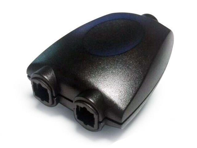 Gembird adaptér Toslink optický signal splitter, 2 porty, černý