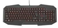 TRUST Klávesnice GXT 830 Gaming Keyboard CZ & SK, USB, podsvícená