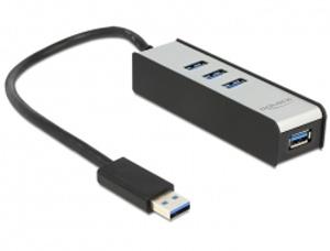 Delock USB 3.0 Externí 4 portový Hub