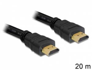 Delock kabel High Speed HDMI s Ethernetem - HDMI A samec > HDMI A samec, 20 m