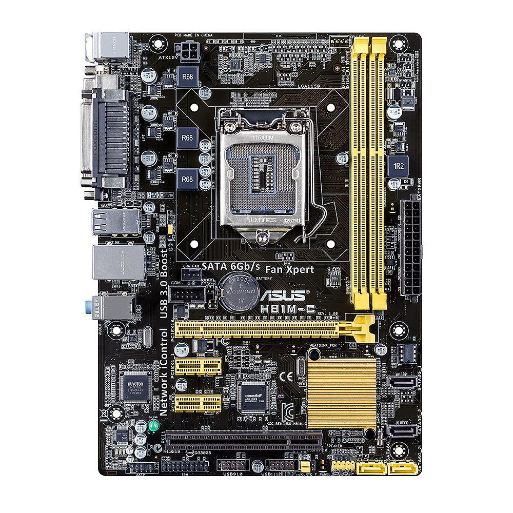 ASUS H81M-C, H81, DualDDR3-1600, SATA3, mATX