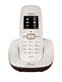 SIEMENS Gigaset CL540 - DECT/GAP bezdrátový telefon, bílý/hnědý