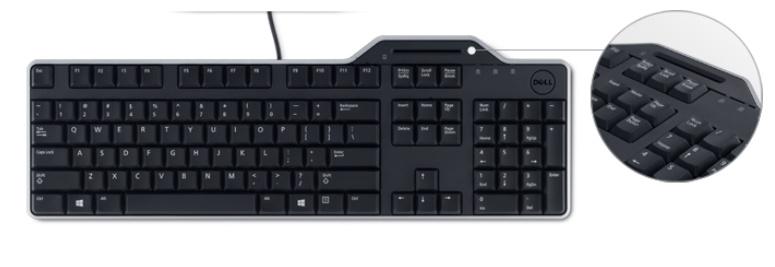 Dell klávesnice se čtečkou Smart karet KB-813 , CZ