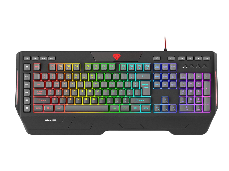 Herní klávesnice Genesis Rhod 600 RGB, US layout, 6-zónové RGB podsvícení, software