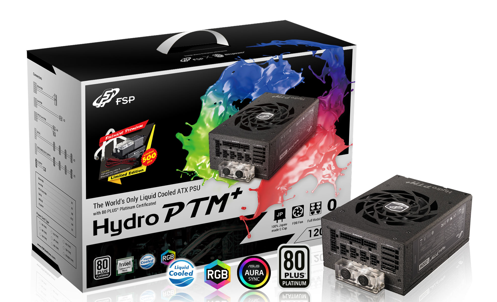 Fortron HYDRO PTM+ 1200W 80PLUS PLATINUM, modular, water cooling (+ LIMITED EDITION gifts)