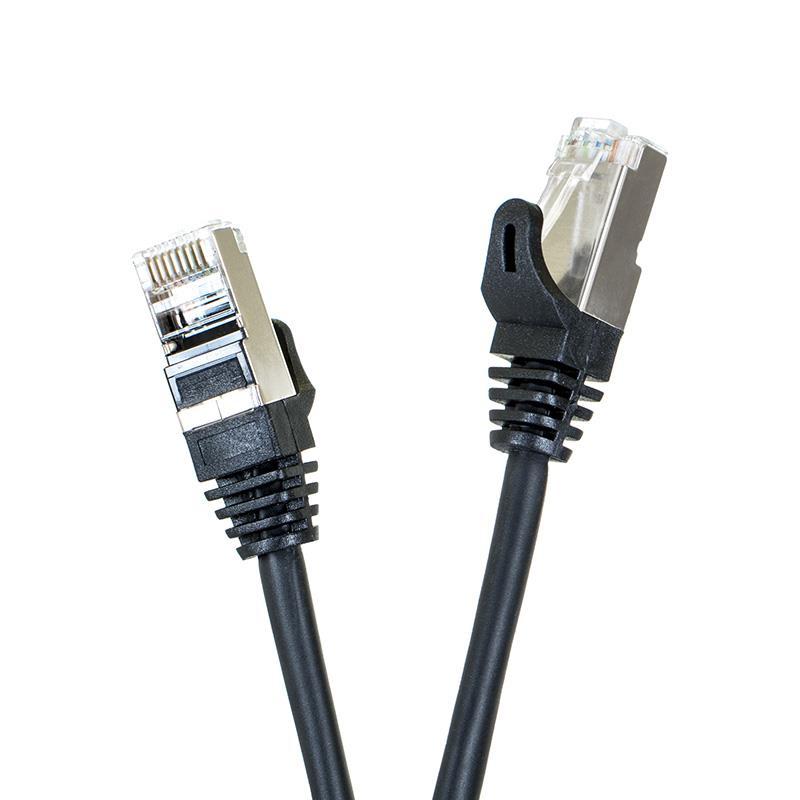 Digitalbox START.LAN patch kabel FTP cat.5e pozlacený 1m černý