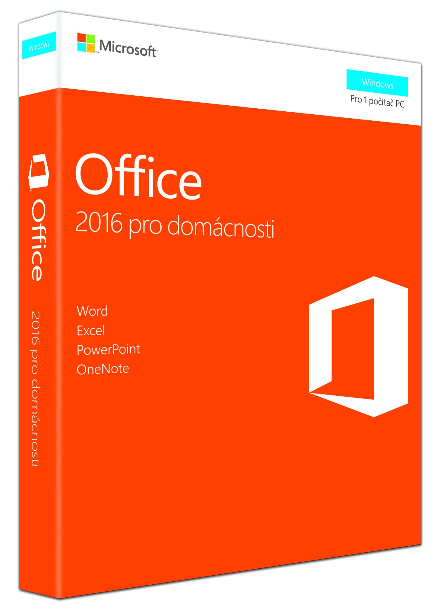 MS FPP Office 2016 pro studenty a domácnosti Win EN P2 - bez média
