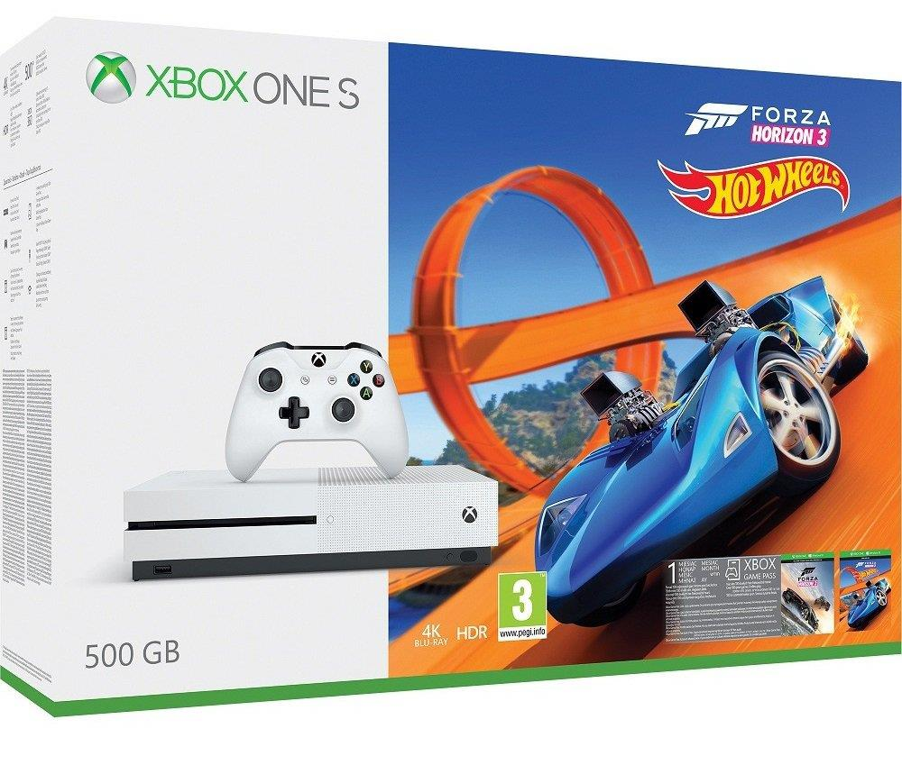 Xbox One S 500GB + Forza Horizon 3 + Hot Wheels
