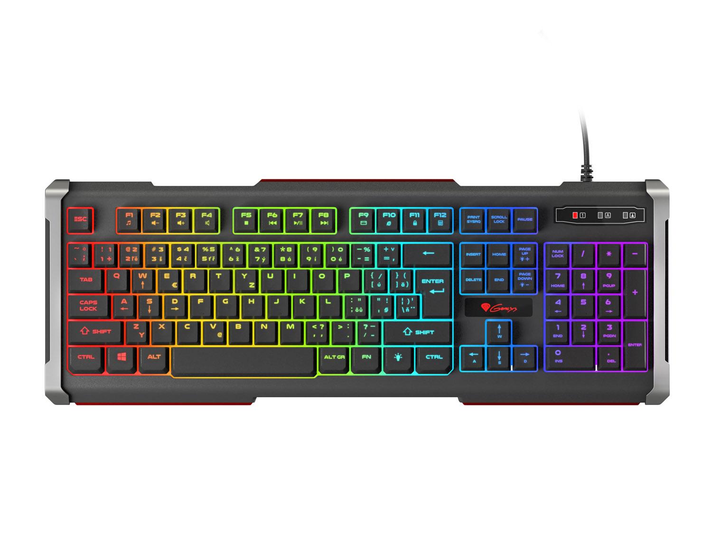 Herní klávesnice Genesis Rhod 400 RGB, CZ/SK layout, 6-zónové RGB podsvícení