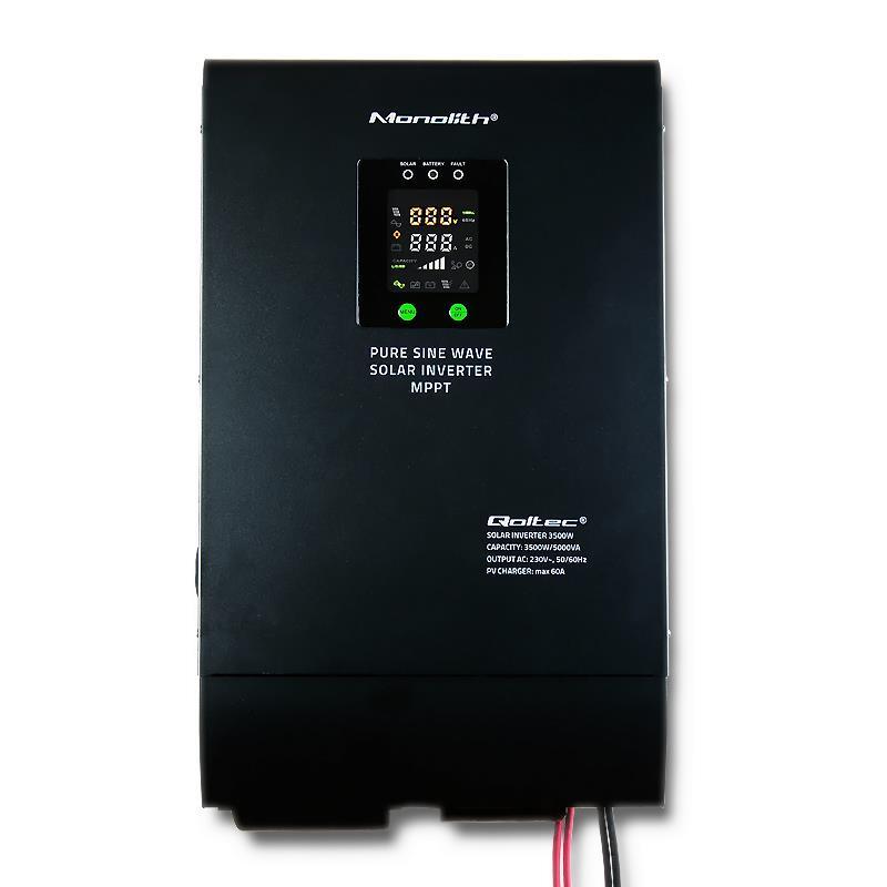 Qoltec Solar Inverter Pure Sine Wave 3500W | 60A