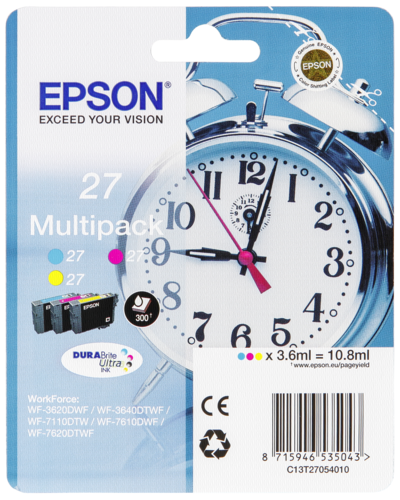 Epson DURABrite Multipack (3 barvy) T 27 T 2705