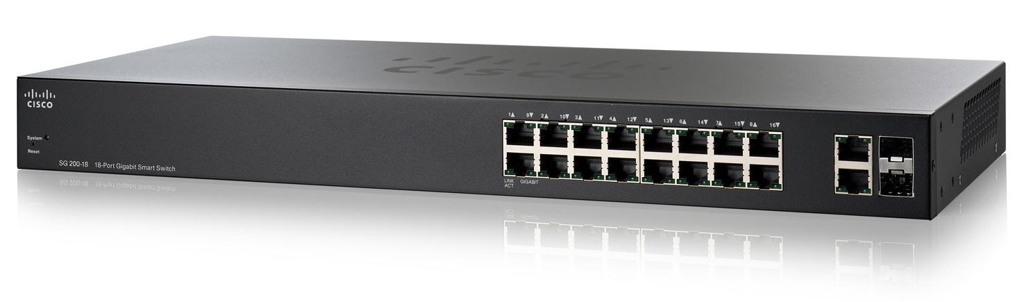 Cisco SG200-18, 18xGigabit, Smart,SFP, SLM2016T-EU