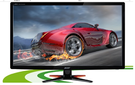 "Acer LCD GN246HLBbid, 61cm (24"") LED 144Hz, 1920 x 1080, 100M:1, 1ms, DVI, HDMI, Black, 3D monitor with NVIDIA"