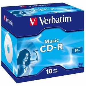 Verbatim CD-R Audio [ jewel case 10 | 80min | 4x | Live it! ]