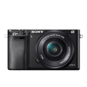 SONY ILCE-6000 Fotoaparát Alfa 6000 s bajonetem E + 16-50mm objektiv - Black