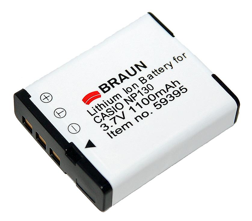 Braun akumulátor CASIO NP-130, 1100mAh