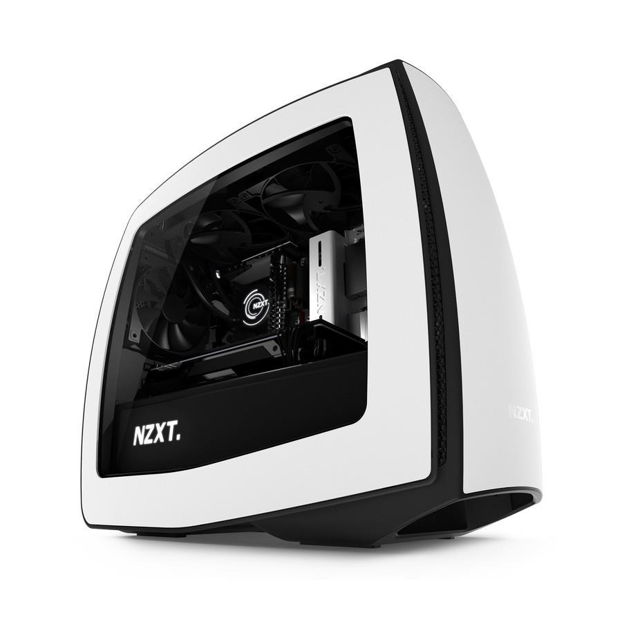 NZXT PC skříň Manta bílo-černá, s oknem v bočním panelu