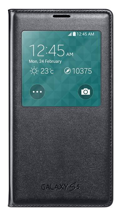 Samsung flip. pouzdro S-View pro S5, černá