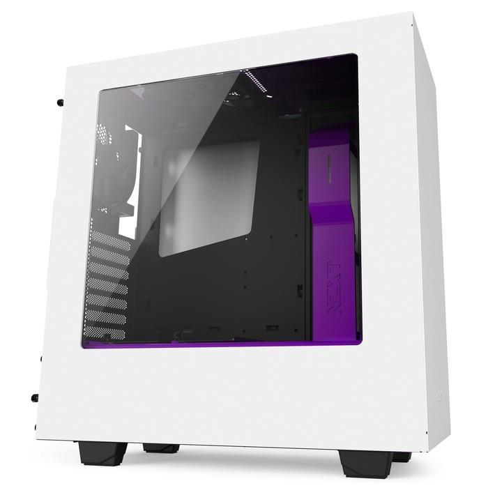 NZXT PC skříň S340 Bílo-fialová
