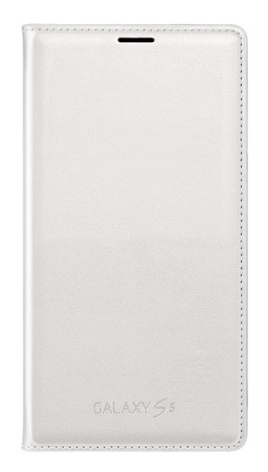 Samsung flip. pouzdro s kapsou pro S5, bílá