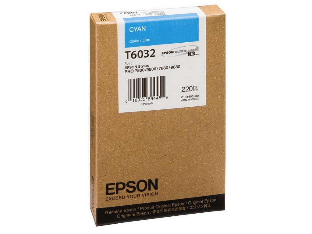 Epson T603 Cyan 220 ml