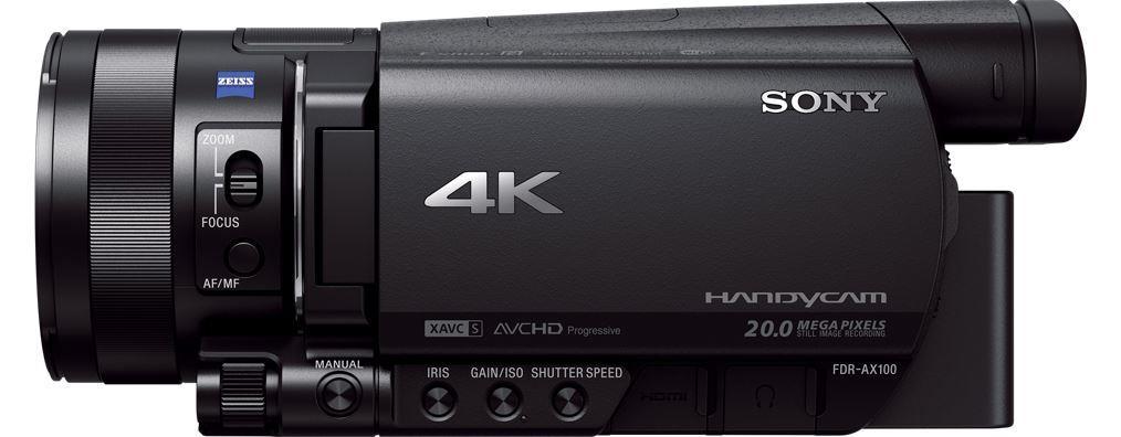 SONY FDR-AX100E Videokamera s rozlišením 4K Ultra HD