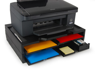 A4 Organizer/Stand for printers, MFP's and monitors (black, 4 shelves)