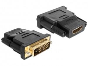 Delock Adaptér DVI 24+1 pin samec > HDMI samice