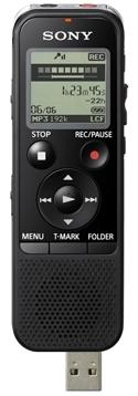SONY digitální záznamník ICD-PX440 - 4 GB, výkon reproduktoru 300 mW - slot na SD