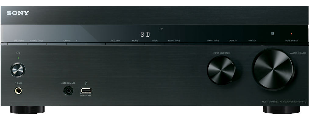 Sony receiver STR-DH550 černý, 3D, 4K, 5.2
