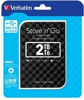 """Verbatim Store 'n' Go GEN 2, 2TB, externí HDD 2.5"""" USB 3.0, černý"""