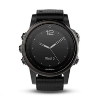 Garmin fenix5S Sapphire Gray Optic, Black band