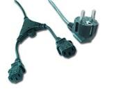 Gembird kabel síťový 1,8m napájecí rozdvojka