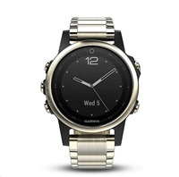 Garmin fenix5S Sapphire Goldtone Optic, Metal band