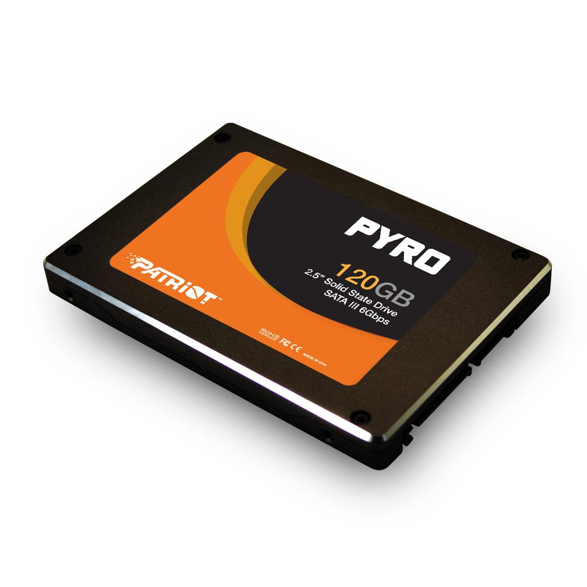 Patriot SSD Pyro 120GB SATA III 6Gb/s (čtení/zápis; 550/530MB/s)IOPS 85K