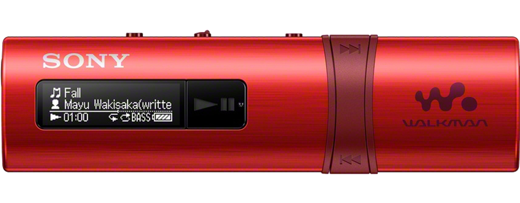 SONY NWZ-B183F – Přehrávač WALKMAN® s portem USB, FM radio, 4GB RED
