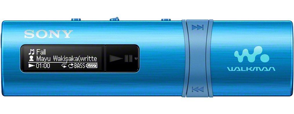 SONY NWZ-B183F – Přehrávač WALKMAN® s portem USB, FM radio, 4GB BLUE