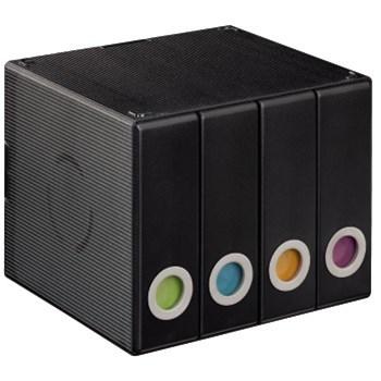Hama CD/DVD Album Box 96, transparent-black