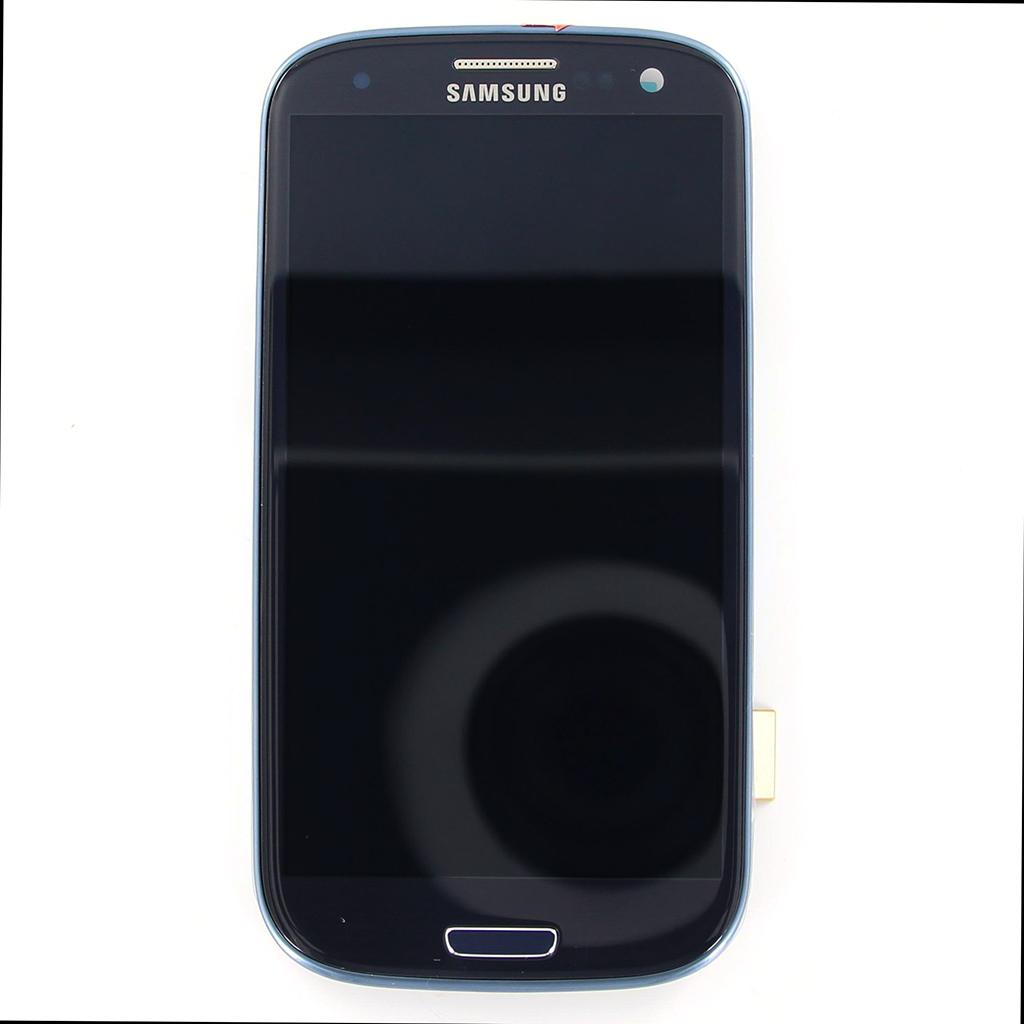 LCD display + Dotyk + Přední kryt pro i9300 blue