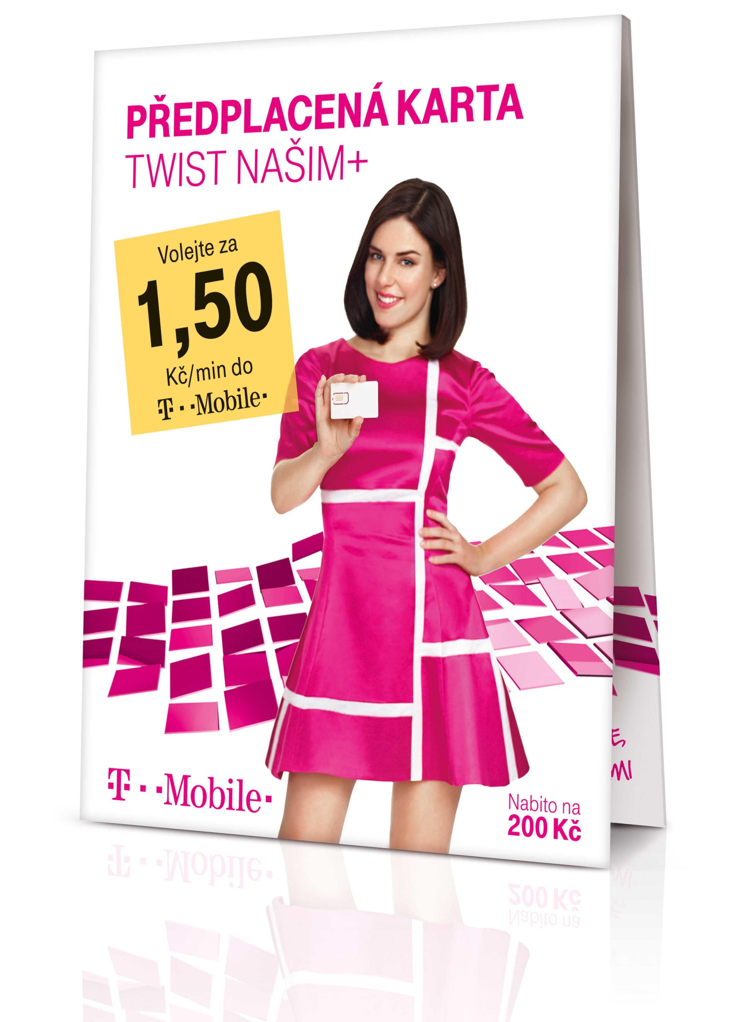 TWIST SIM karta - Našim+, 200 Kč kredit