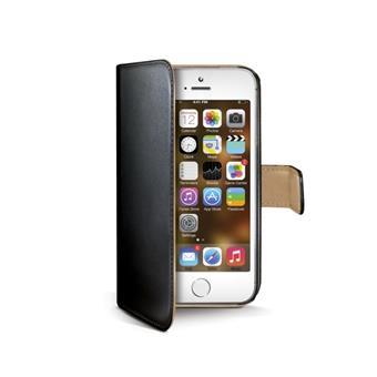 Pouzdro typu kniha Wallet pro iPhone 5/5S, černé