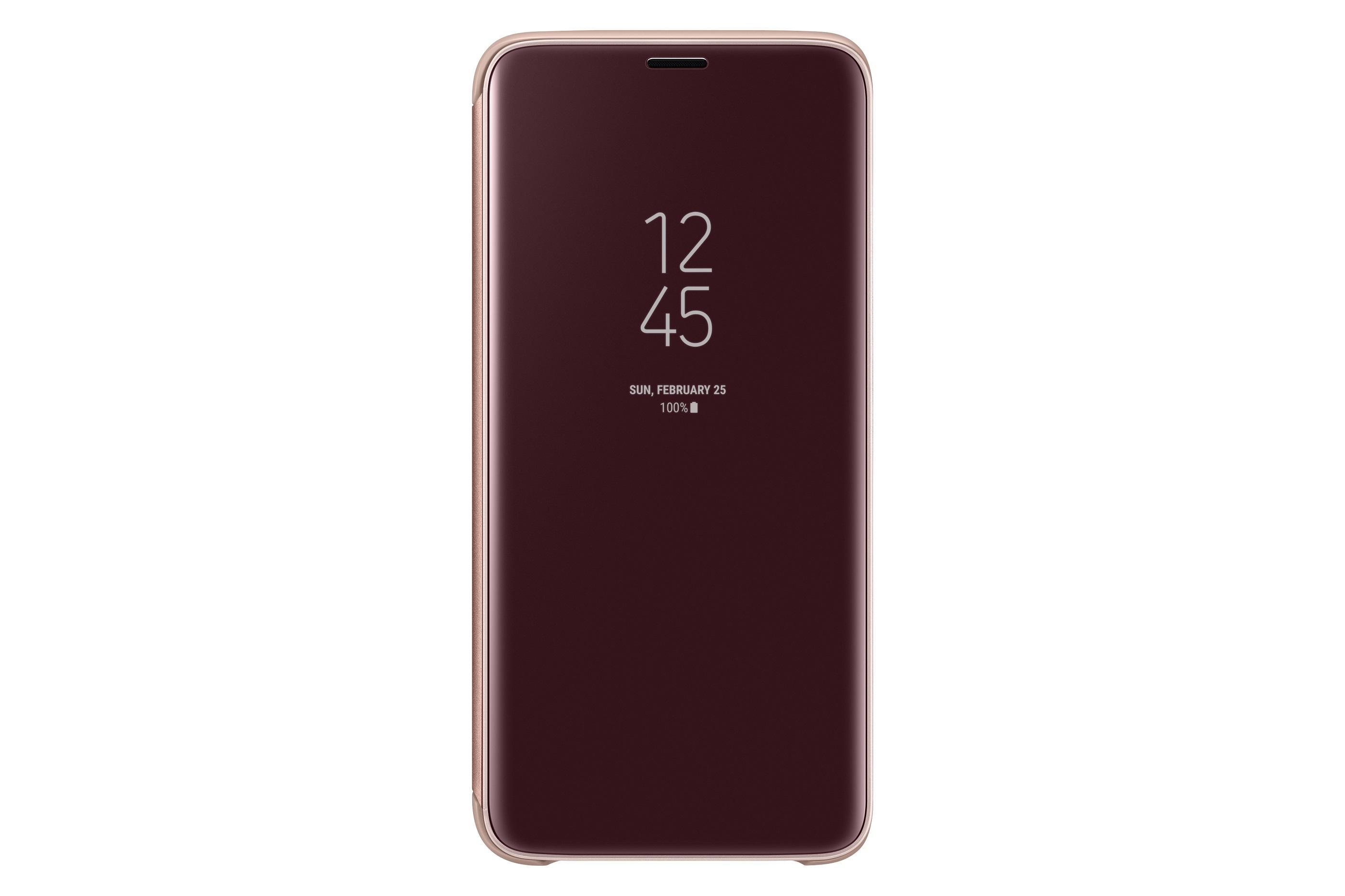 Samsung Flipové pouzdro Clear View pro S9 Gold