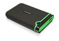 """TRANSCEND 2TB StoreJet 25M3, USB 3.0, 2.5"""" Externí Anti-Shock disk, šedo/zelený"""