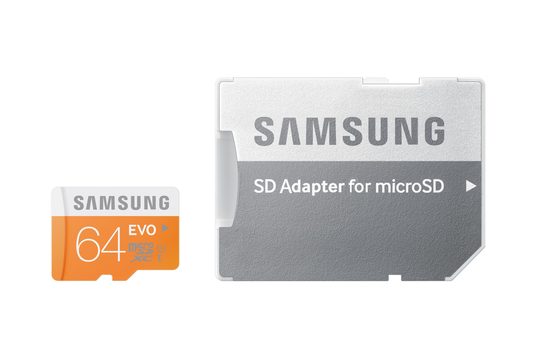 Micro SDXC 64GB Samsung EVO class 10 + adaptér