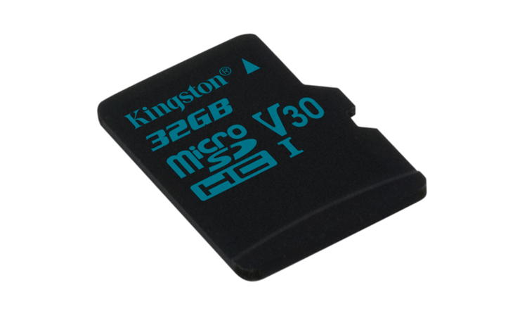 KINGSTON 32GB microSDHC Canvas Go 90R/45W U3 UHS-I V30 Card bez adaptéru